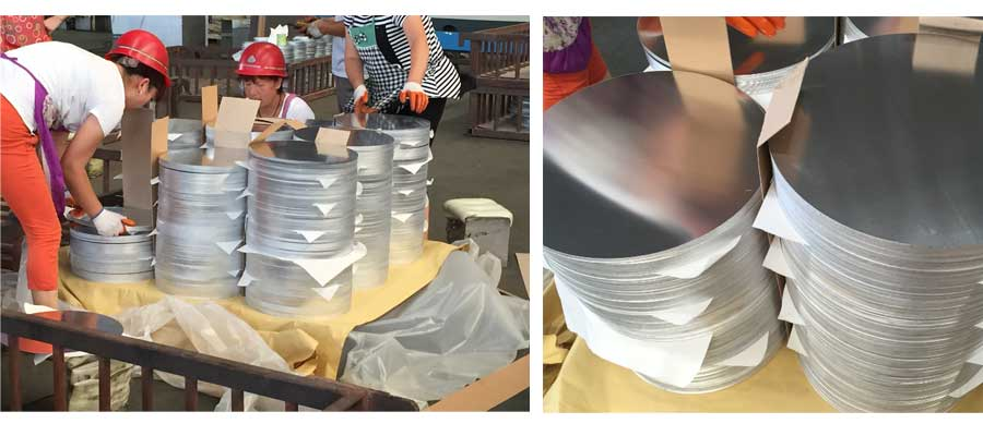 Round aluminum plate Packaging